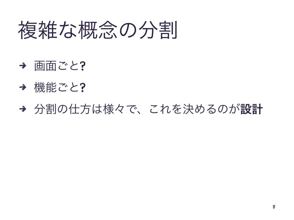ෳͳ֓೦ͷׂ 4 ը໘͝ͱ? 4 ػ͝ͱ? 4 ׂͷํ༷ʑͰɺ͜ΕΛܾΊΔͷ͕ઃܭ...