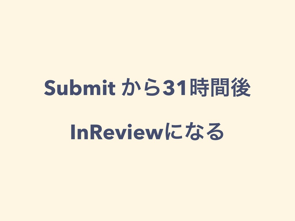 Submit ͔Β31ؒޙ InReviewʹͳΔ