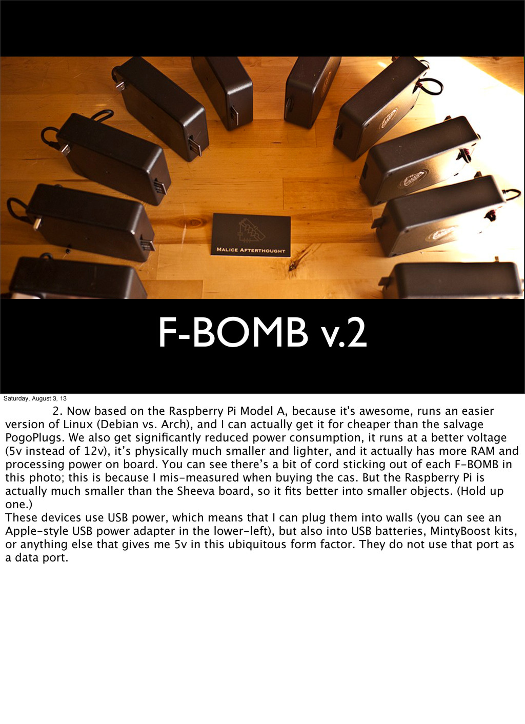 F-BOMB v.2 Saturday, August 3, 13 