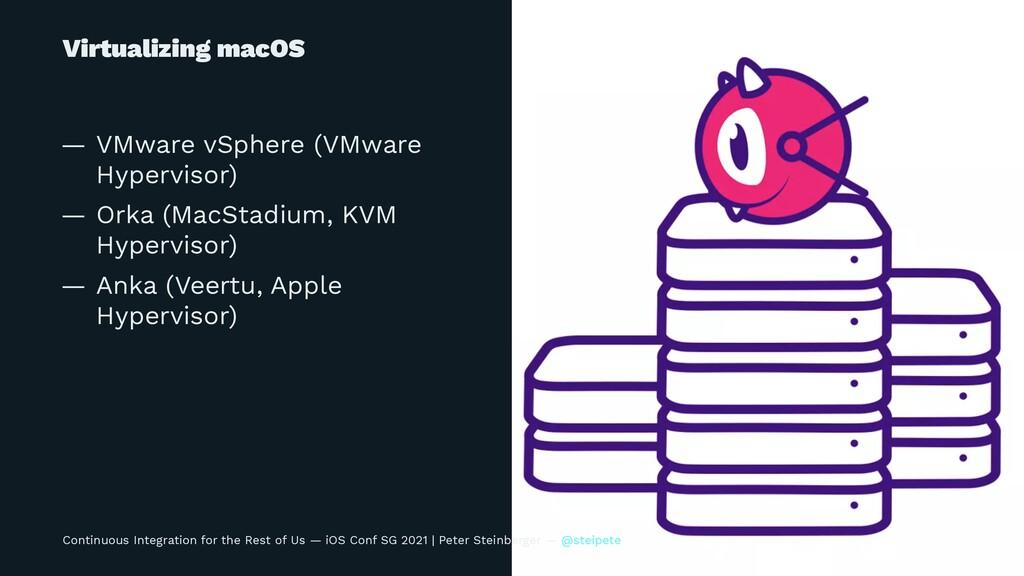 Virtualizing macOS — VMware vSphere (VMware Hyp...
