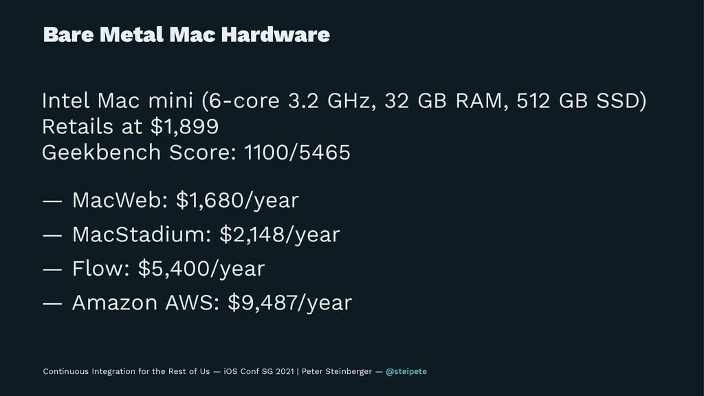 Bare Metal Mac Hardware Intel Mac mini (6-core ...