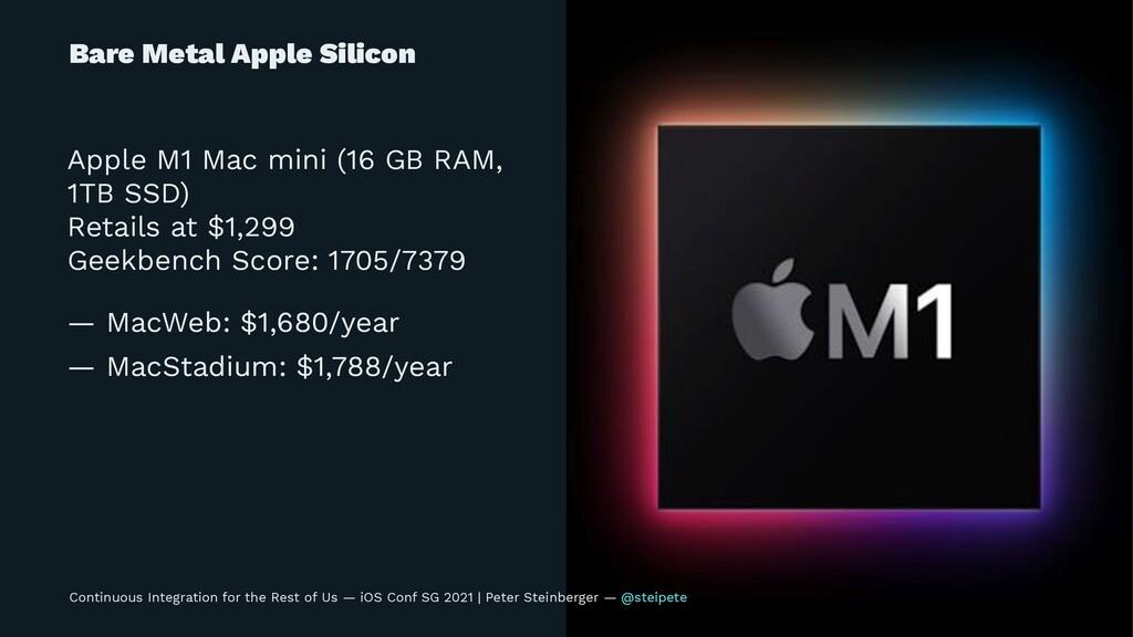 Bare Metal Apple Silicon Apple M1 Mac mini (16 ...