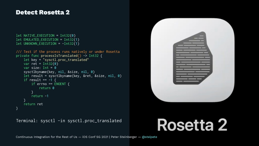 Detect Rose!a 2 let NATIVE_EXECUTION = Int32(0)...