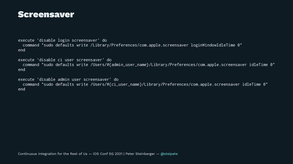 Screensaver execute 'disable login screensaver'...