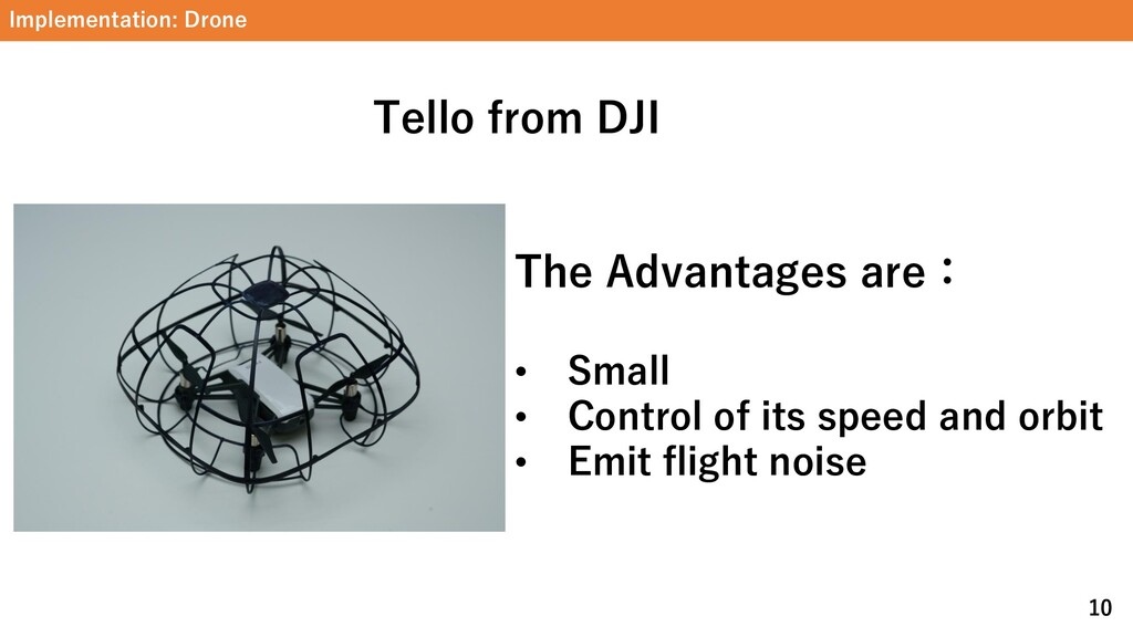 Implementation: Drone 10 Tello from DJI The Adv...