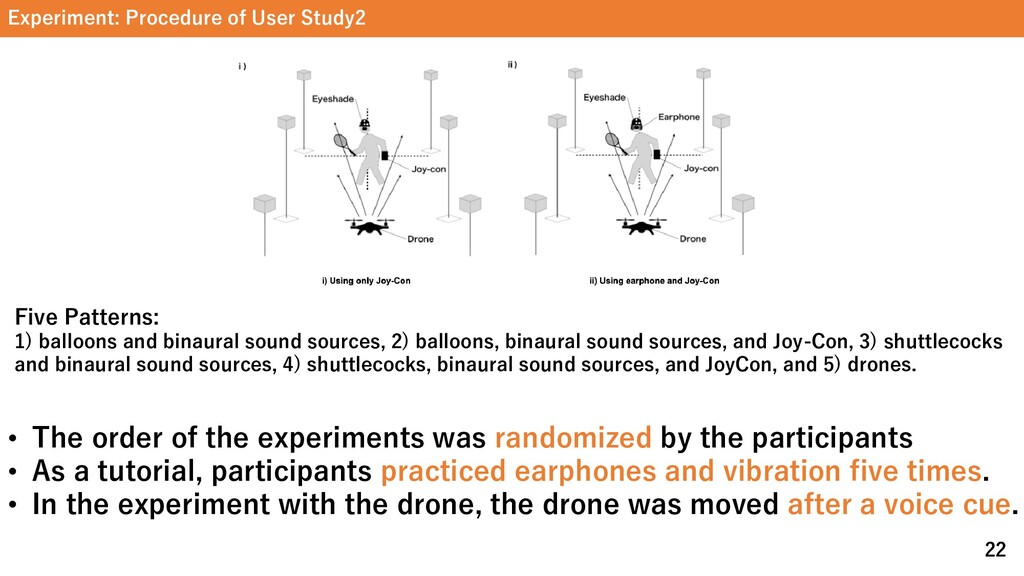 Experiment: Procedure of User Study2 22 Five Pa...