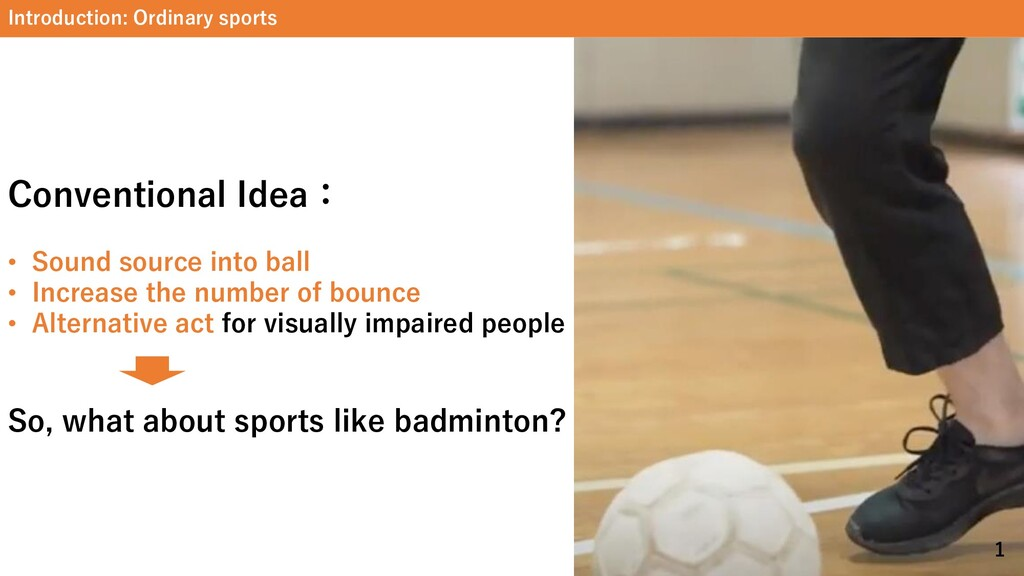 Introduction: Ordinary sports Conventional Idea...