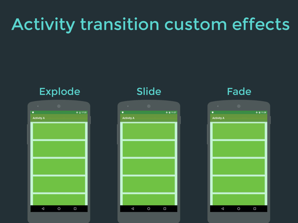 Explode Slide Fade Activity transition custom e...