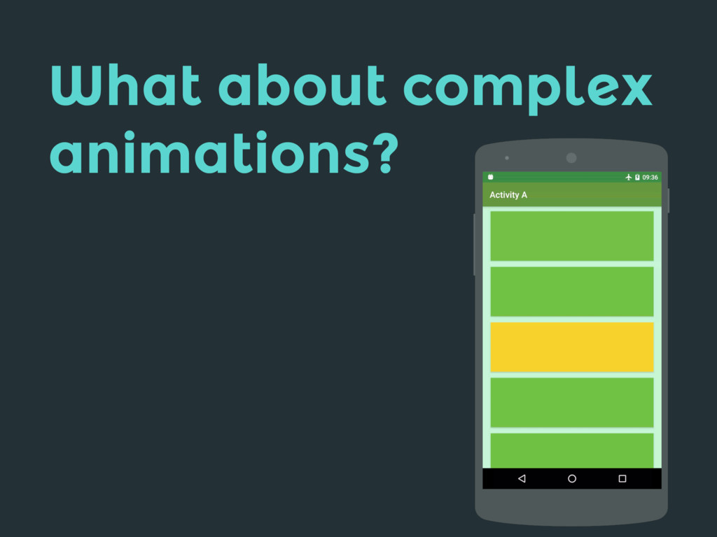 What about complex animations?