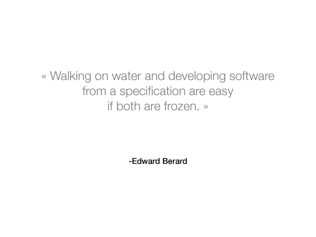 -Edward Berard « Walking on water and developin...