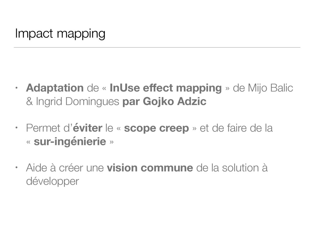 Impact mapping • Adaptation de « InUse effect ma...