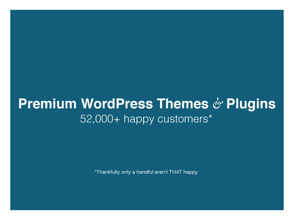 Premium WordPress Themes & Plugins 52,000+ happ...