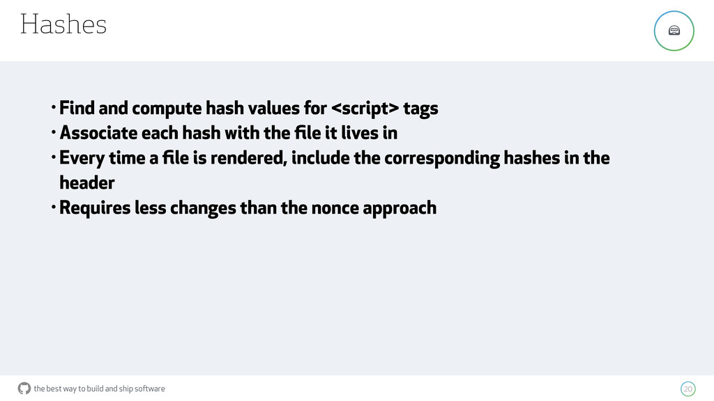 the best way to build and ship software Hashes ...