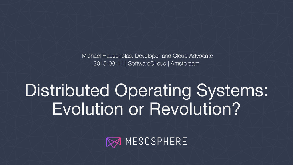 Distributed Operating Systems: Evolution or Rev...