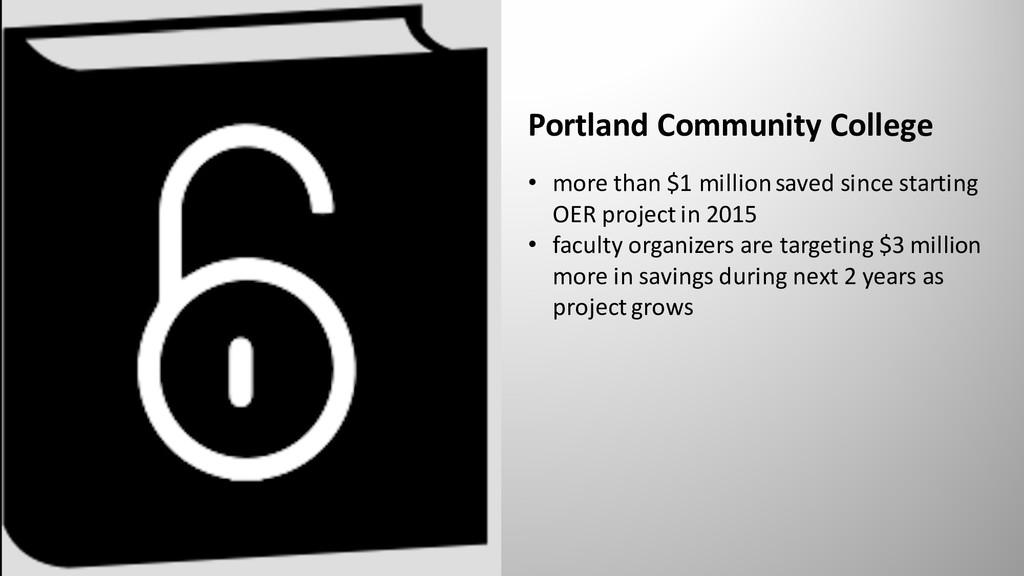 Portland Community College • more than $1 milli...