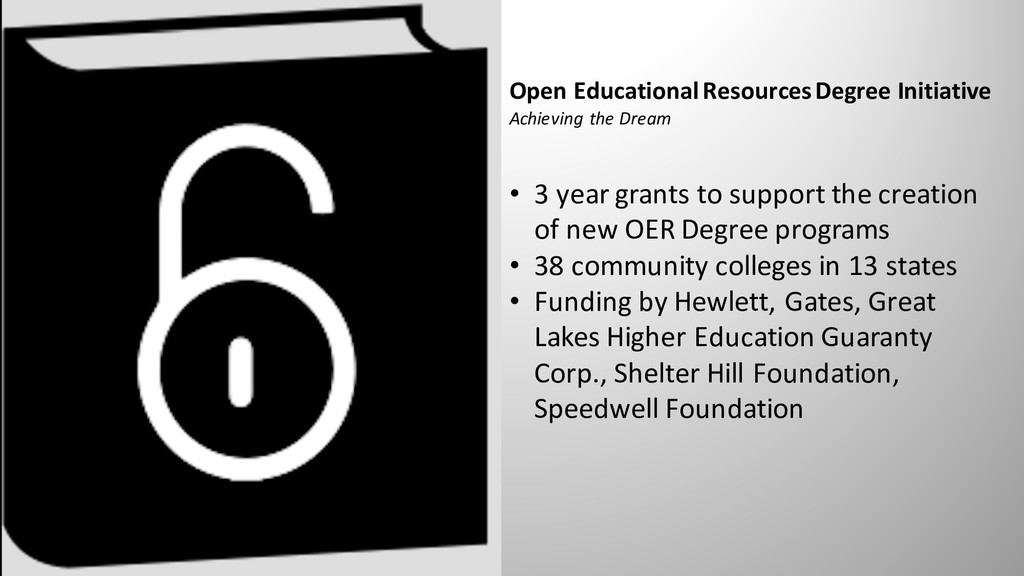 Open Educational Resources Degree Initiative Ac...