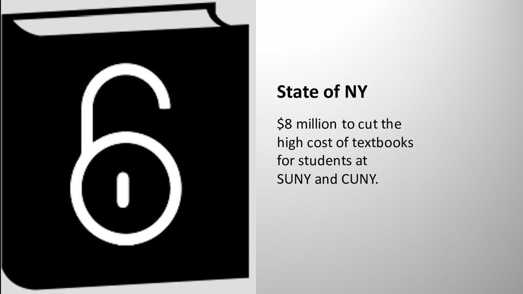 State of NY $8 million to cut the high cost of ...