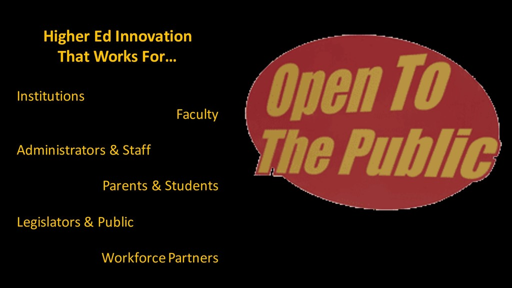 Higher Ed Innovation That Works For… Institutio...