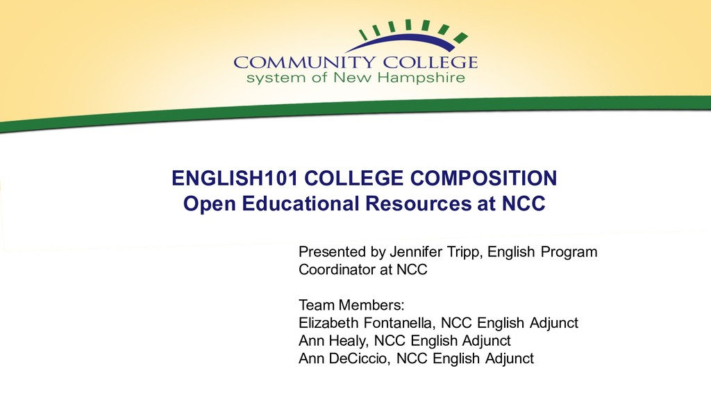 ENGLISH101 COLLEGE COMPOSITION Open Educational...