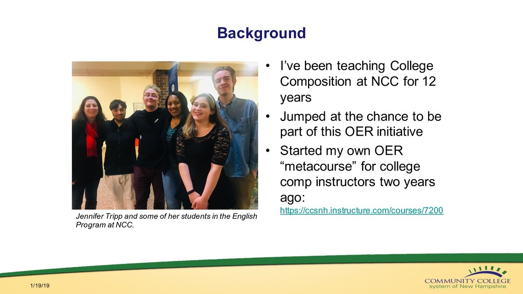 Background • I've been teaching College Composi...