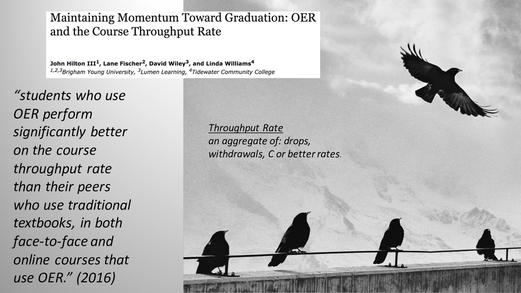 """""""students who use OER perform significantly bet..."""