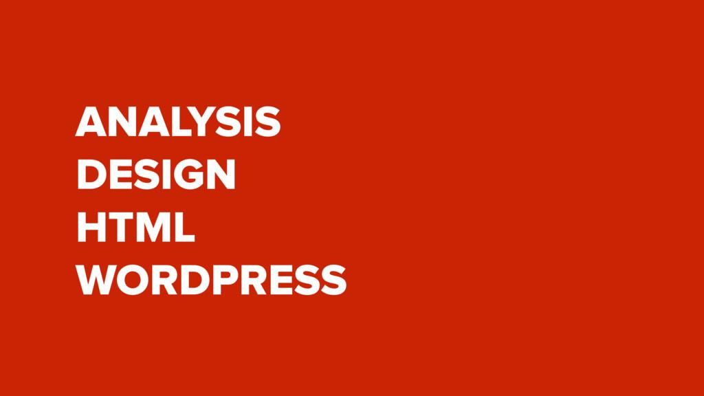 ANALYSIS DESIGN HTML WORDPRESS