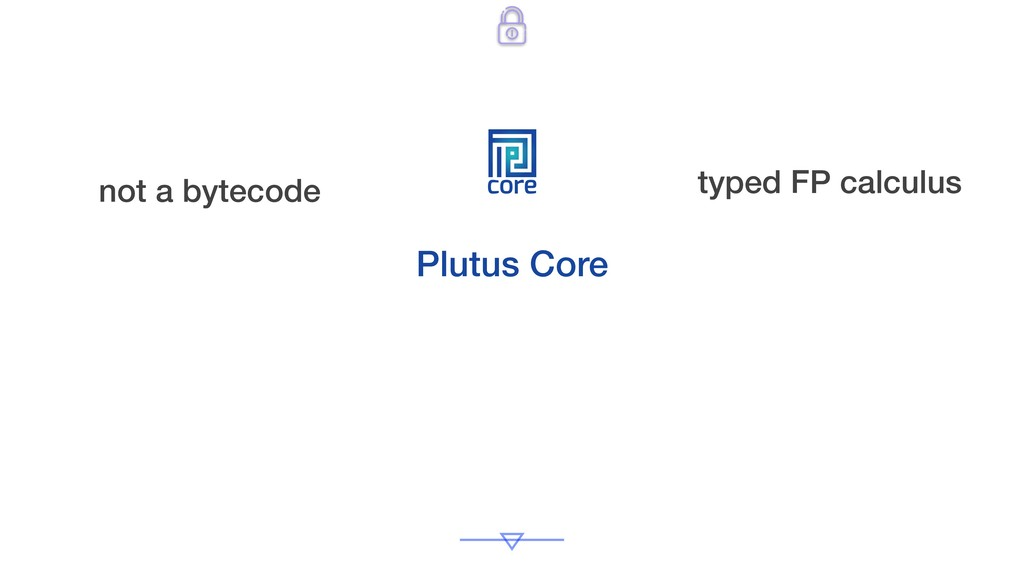 core Plutus Core not a bytecode typed FP calcul...