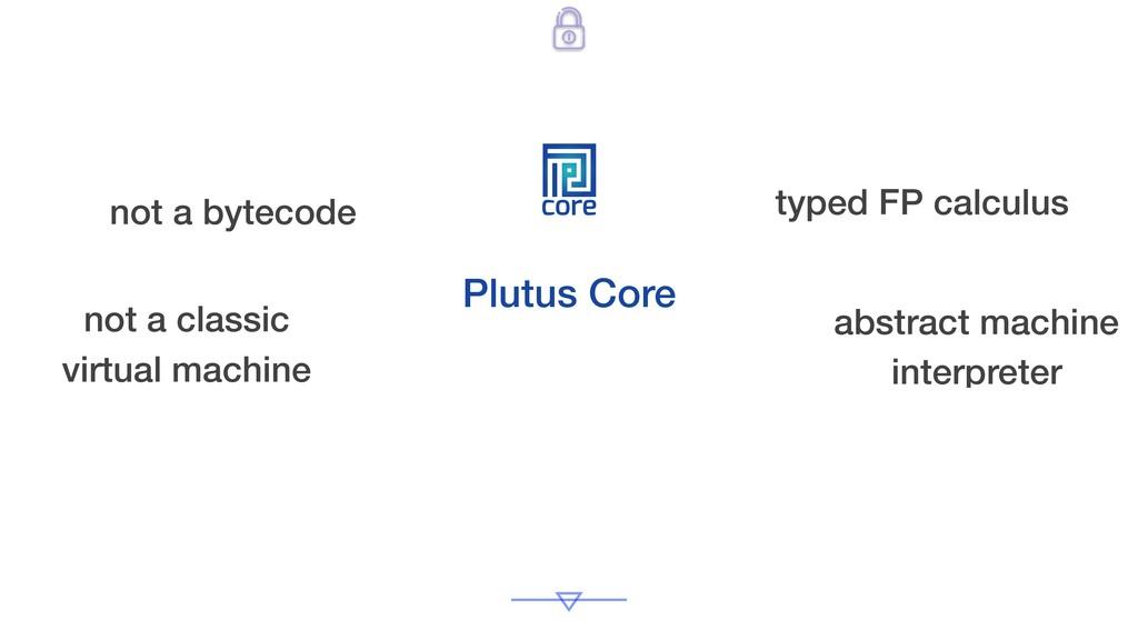 core Plutus Core not a bytecode not a classic v...