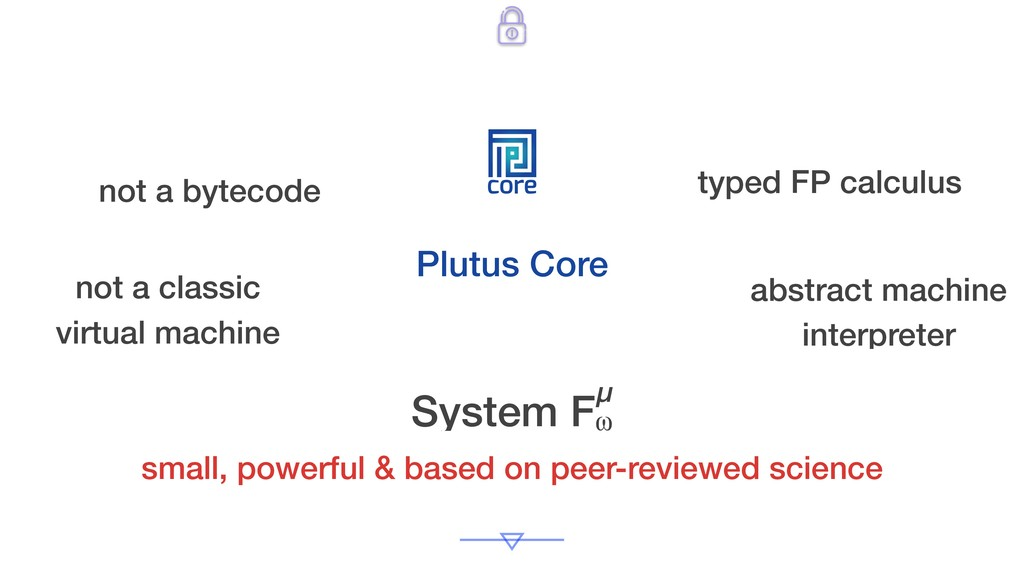 core Plutus Core small, powerful & based on pee...