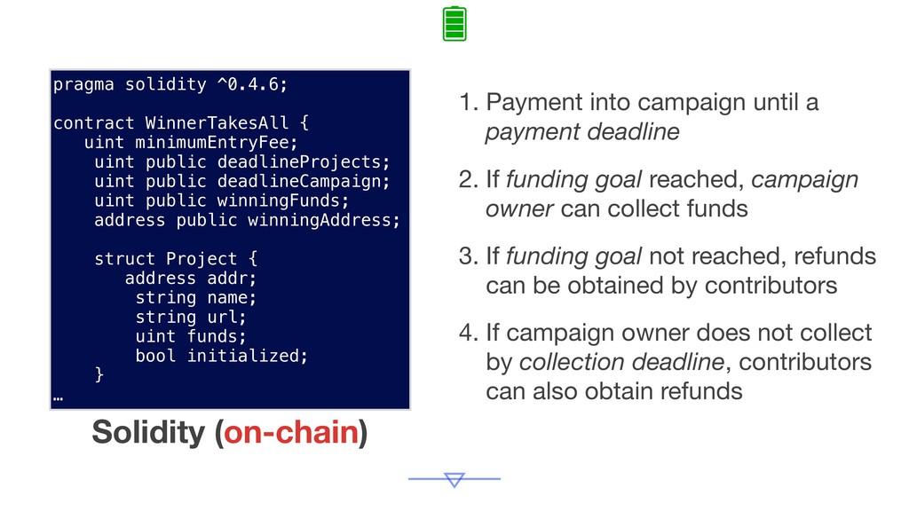 1. Payment into campaign until a payment deadli...