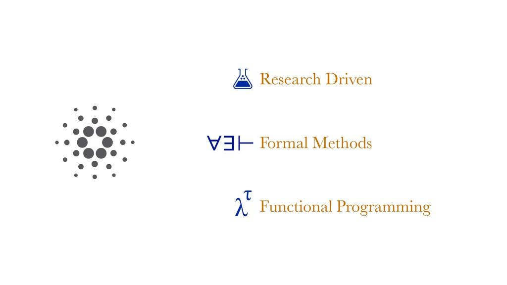Research Driven Formal Methods Programming Func...