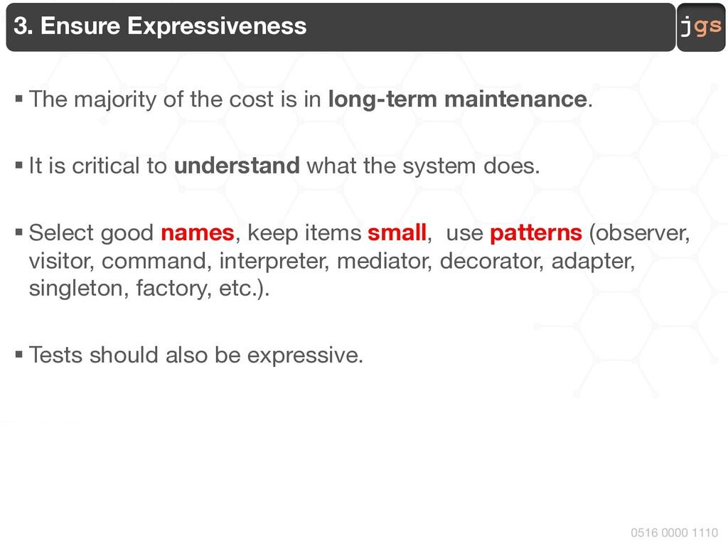 jgs 0516 0000 1110 3. Ensure Expressiveness § T...