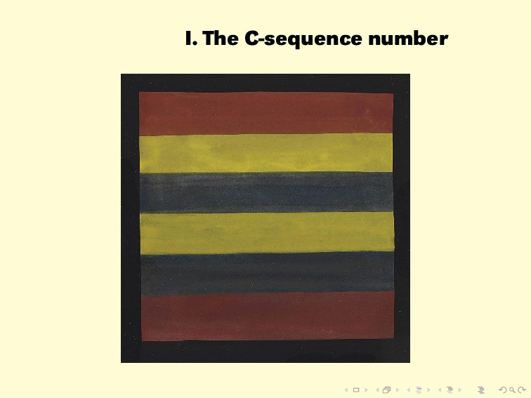 I. The C-sequence number