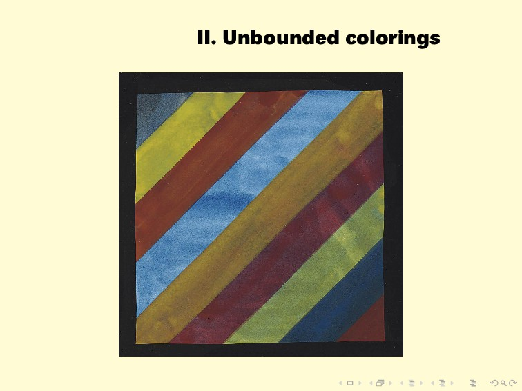 II. Unbounded colorings