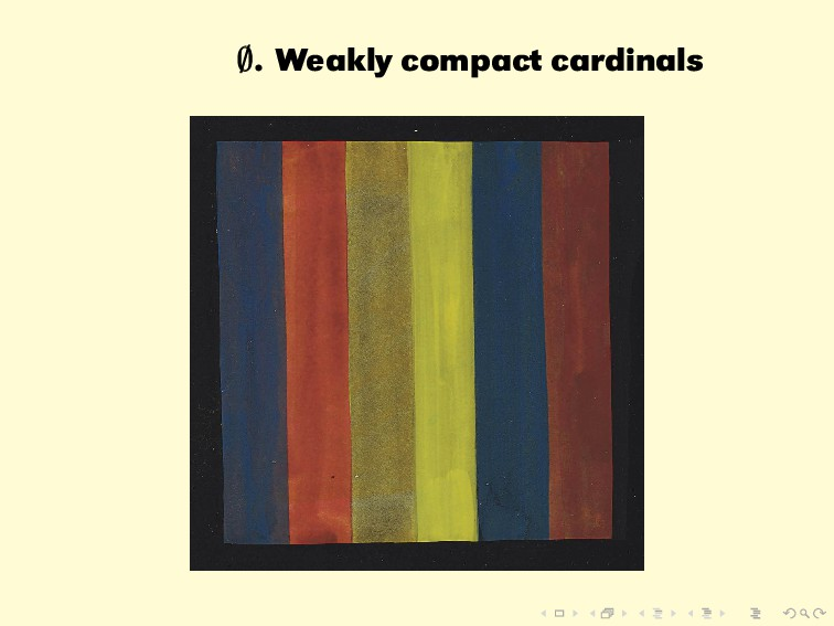 ∅ ∅ ∅. Weakly compact cardinals