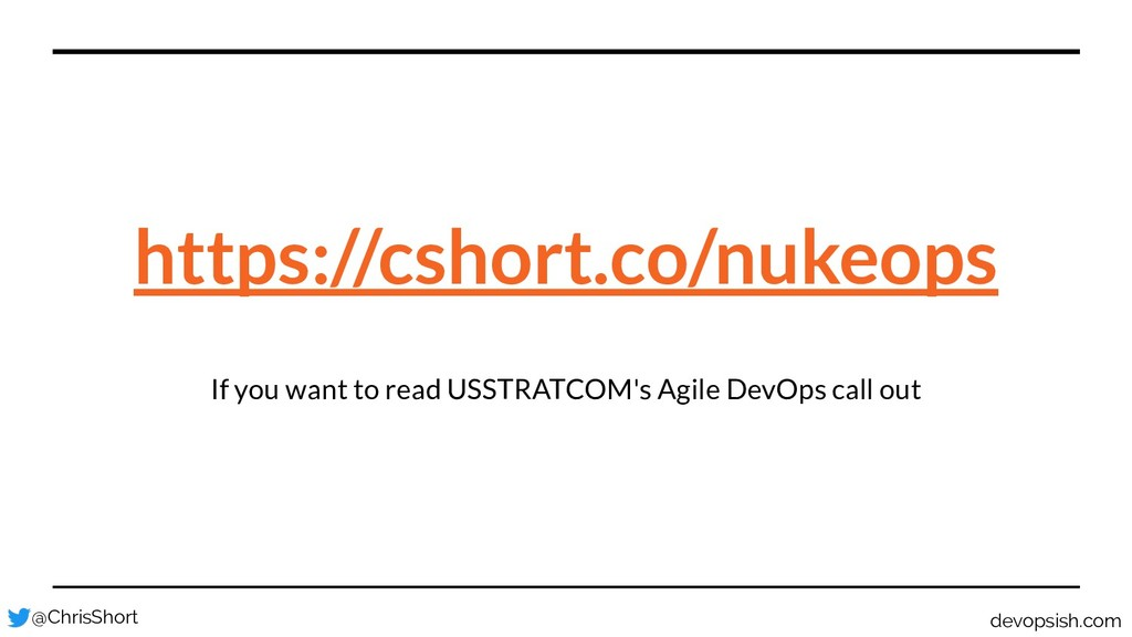 If you want to read USSTRATCOM's Agile DevOps c...