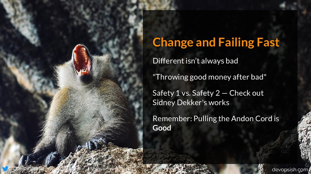 Change and Failing Fast Different isn't always ...