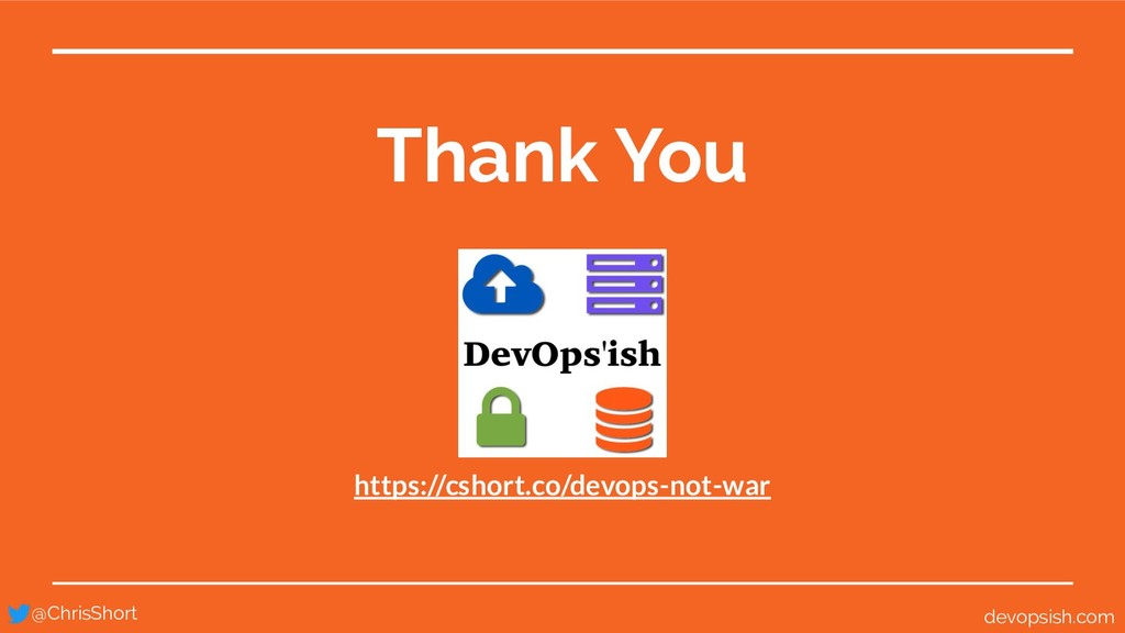 Thank You @ChrisShort devopsish.com https://csh...