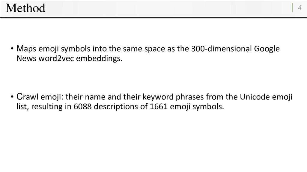 Method 4 • Maps emoji symbols into the same spa...