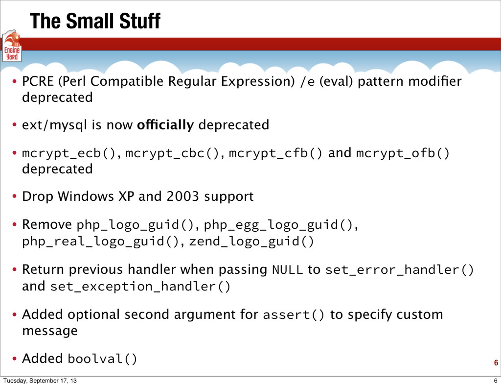 The Small Stuff • PCRE (Perl Compatible Regular...