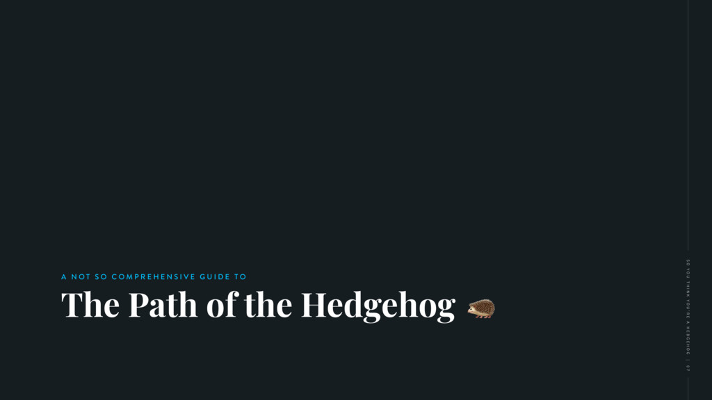 The Path of the Hedgehog A N O T S O C O M P R ...