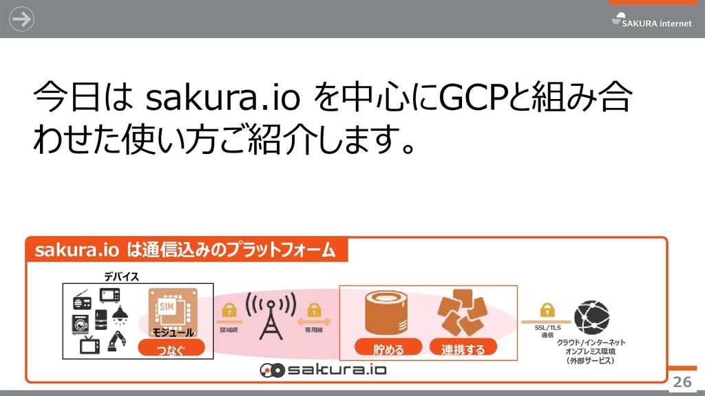 26 sakura.io は通信込みのプラットフォーム つなぐ 貯める 連携する デバイス 専...