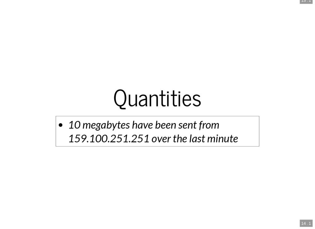 13 . 1 14 . 1 Quantities 10 megabytes have been...