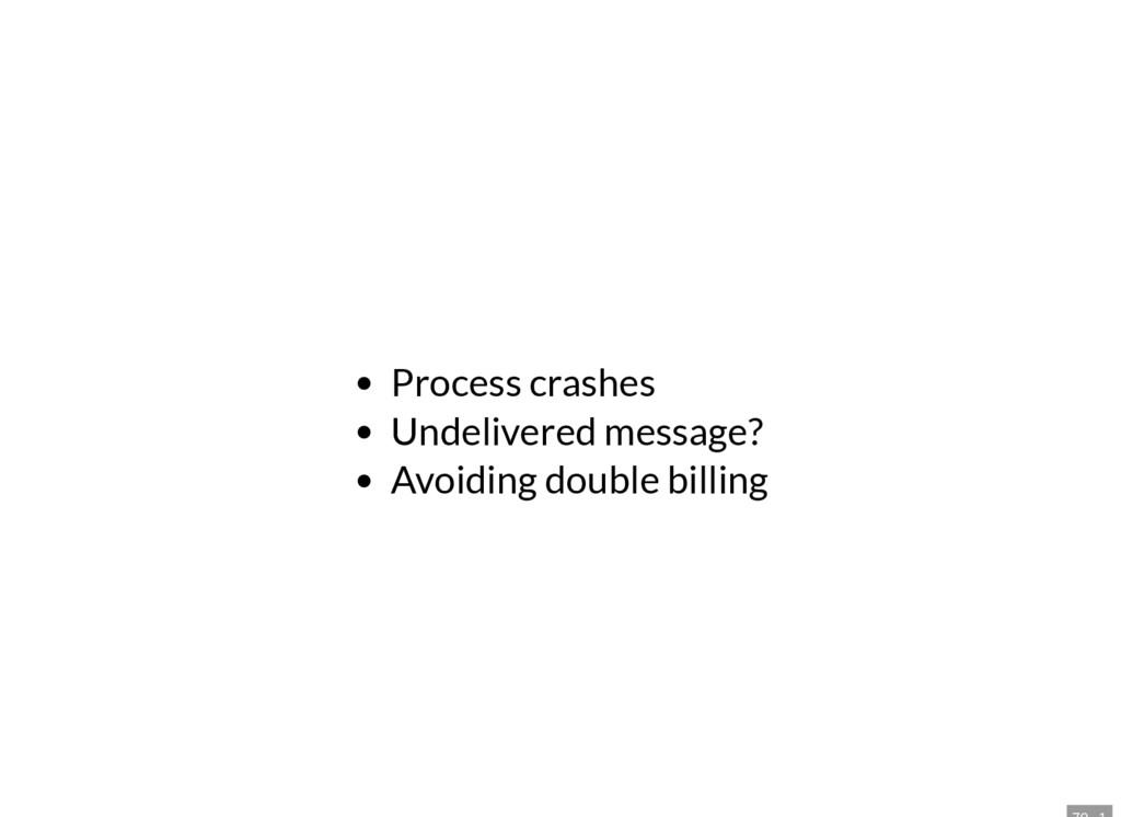 Process crashes Undelivered message? Avoiding d...