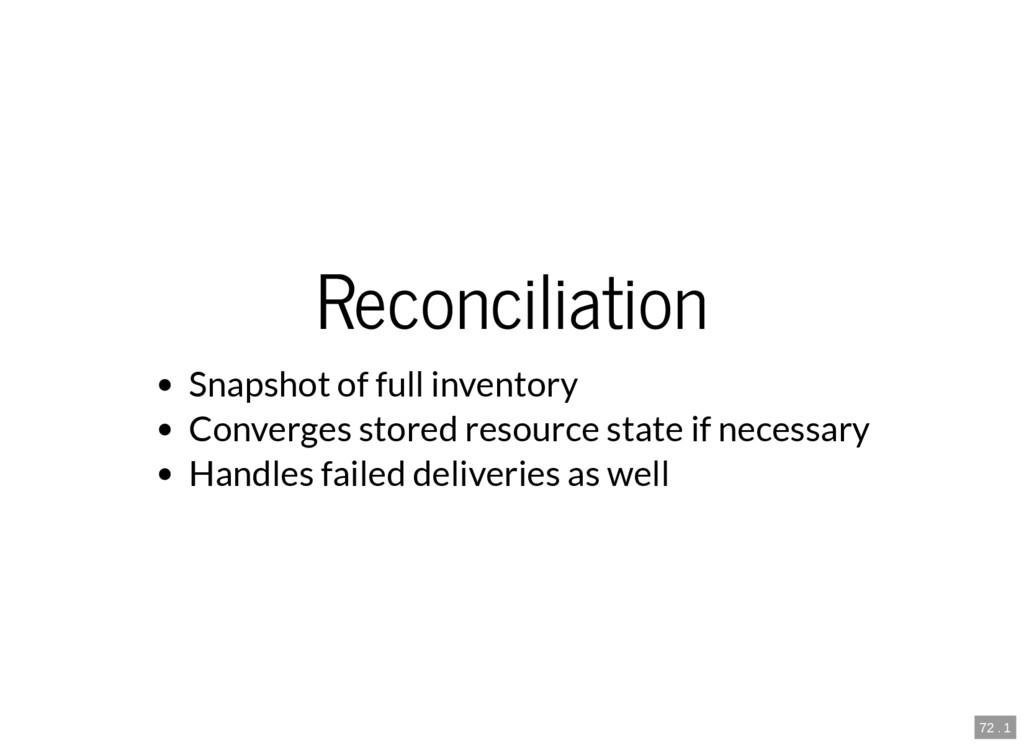 72 . 1 Reconciliation Snapshot of full inventor...