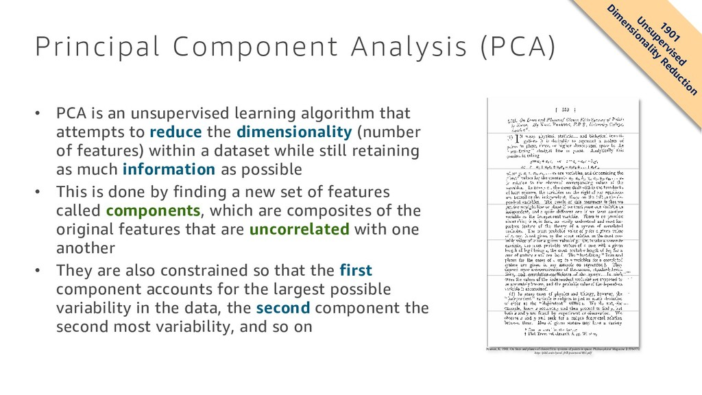 Principal Component Analysis (PCA) • PCA is an ...
