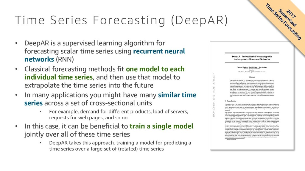 Time Series Forecasting (DeepAR) DeepAR: Probab...