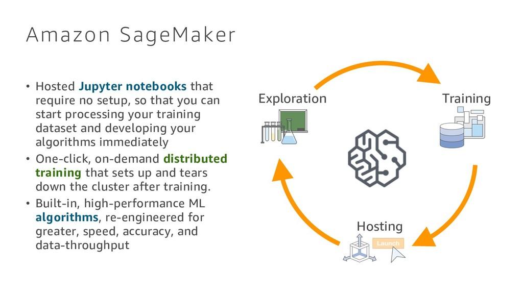 Amazon SageMaker • Hosted Jupyter notebooks tha...