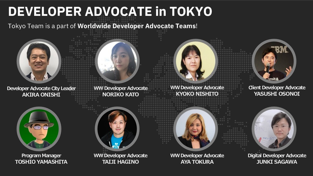 DEVELOPER ADVOCATE in TOKYO Tokyo Team is a par...