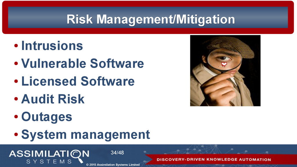 © 2015 Assimilation Systems Limited 34/48 Risk ...